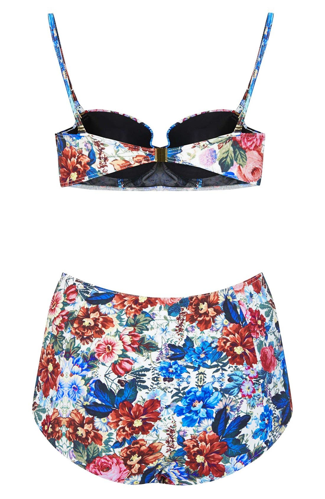 Alternate Image 2  - Topshop Floral Bikini Set