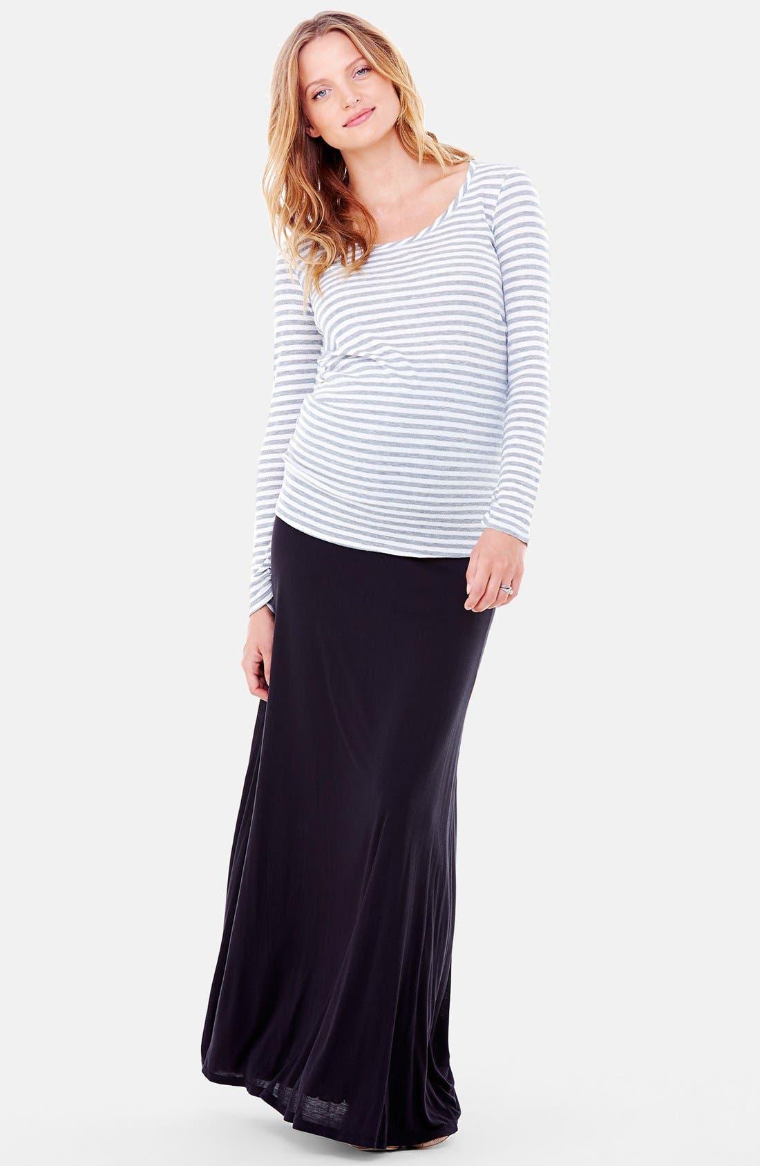Alternate Image 5  - Ingrid & Isabel®'Flowy' Maxi Maternity Skirt