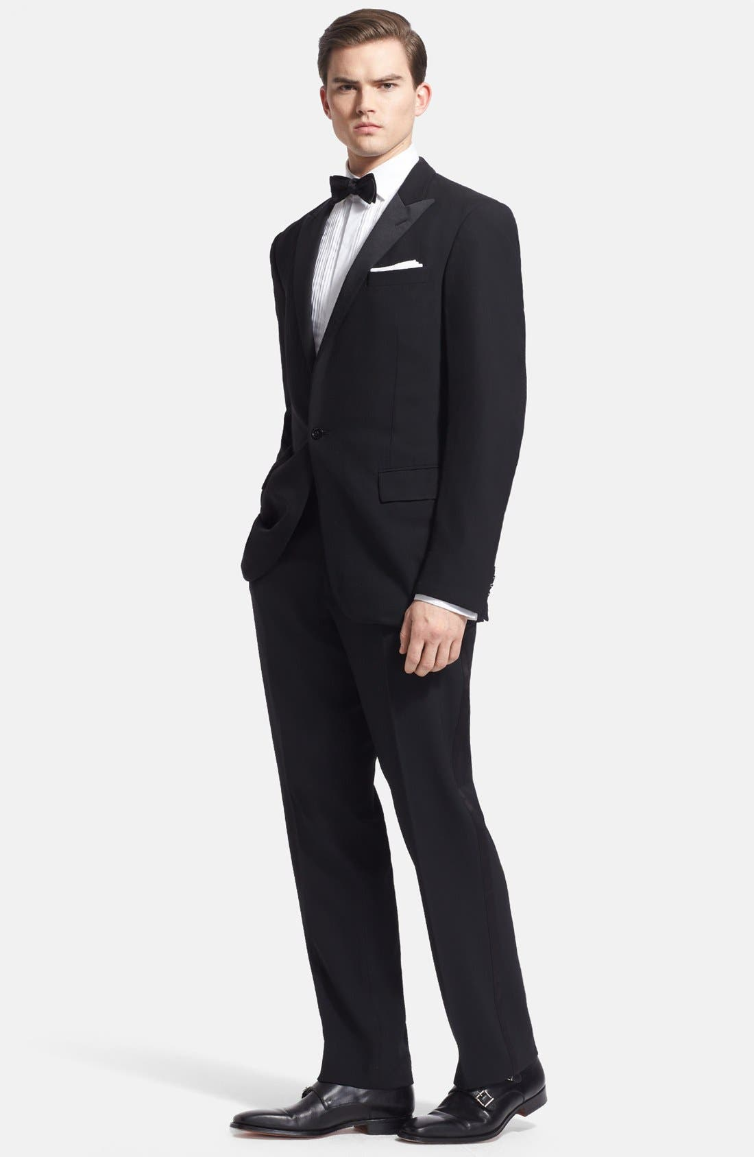 Alternate Image 1 Selected - Ralph Lauren Black Label Wool Tuxedo