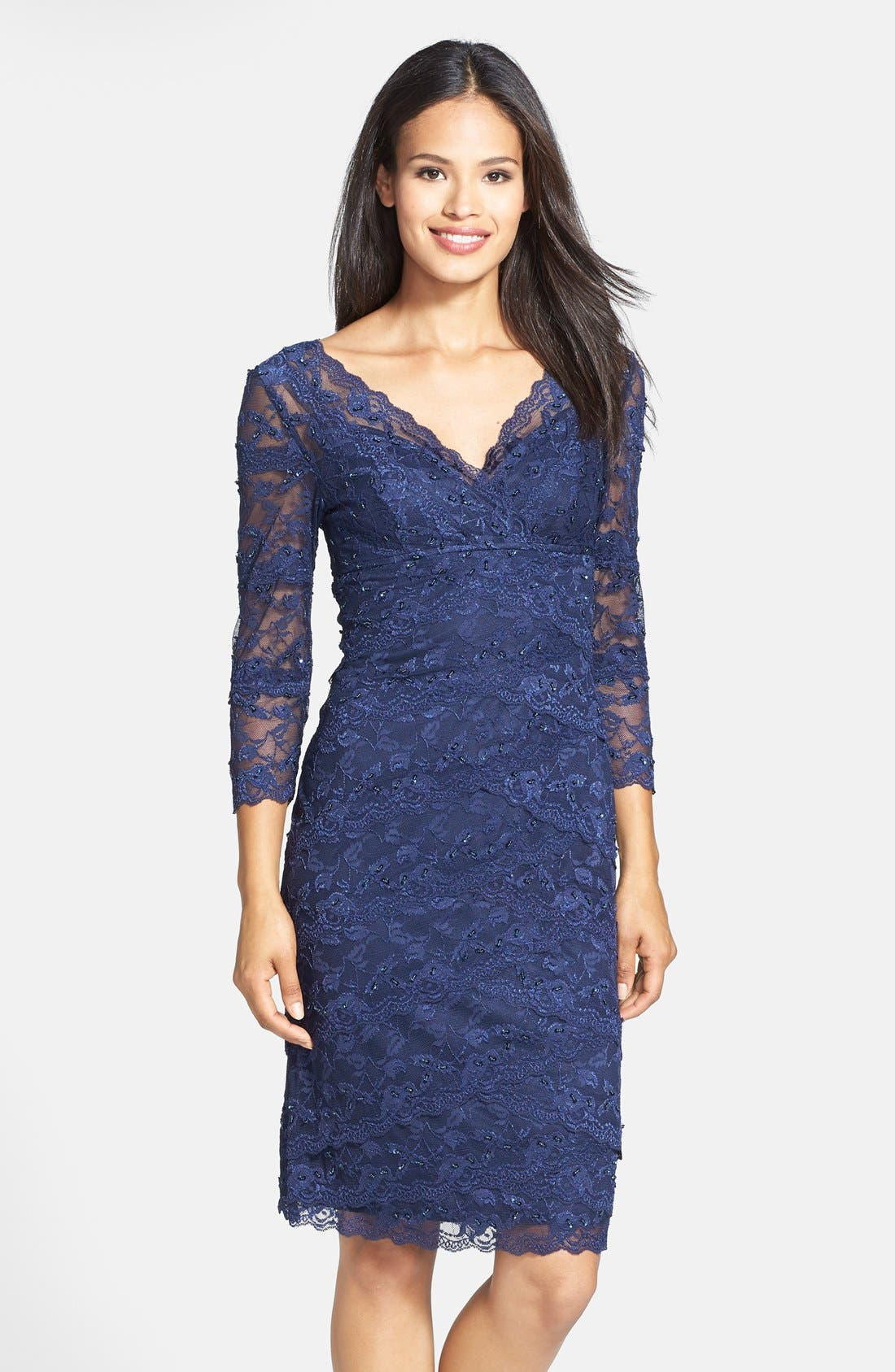 Alternate Image 1 Selected - Marina Tiered Lace Dress