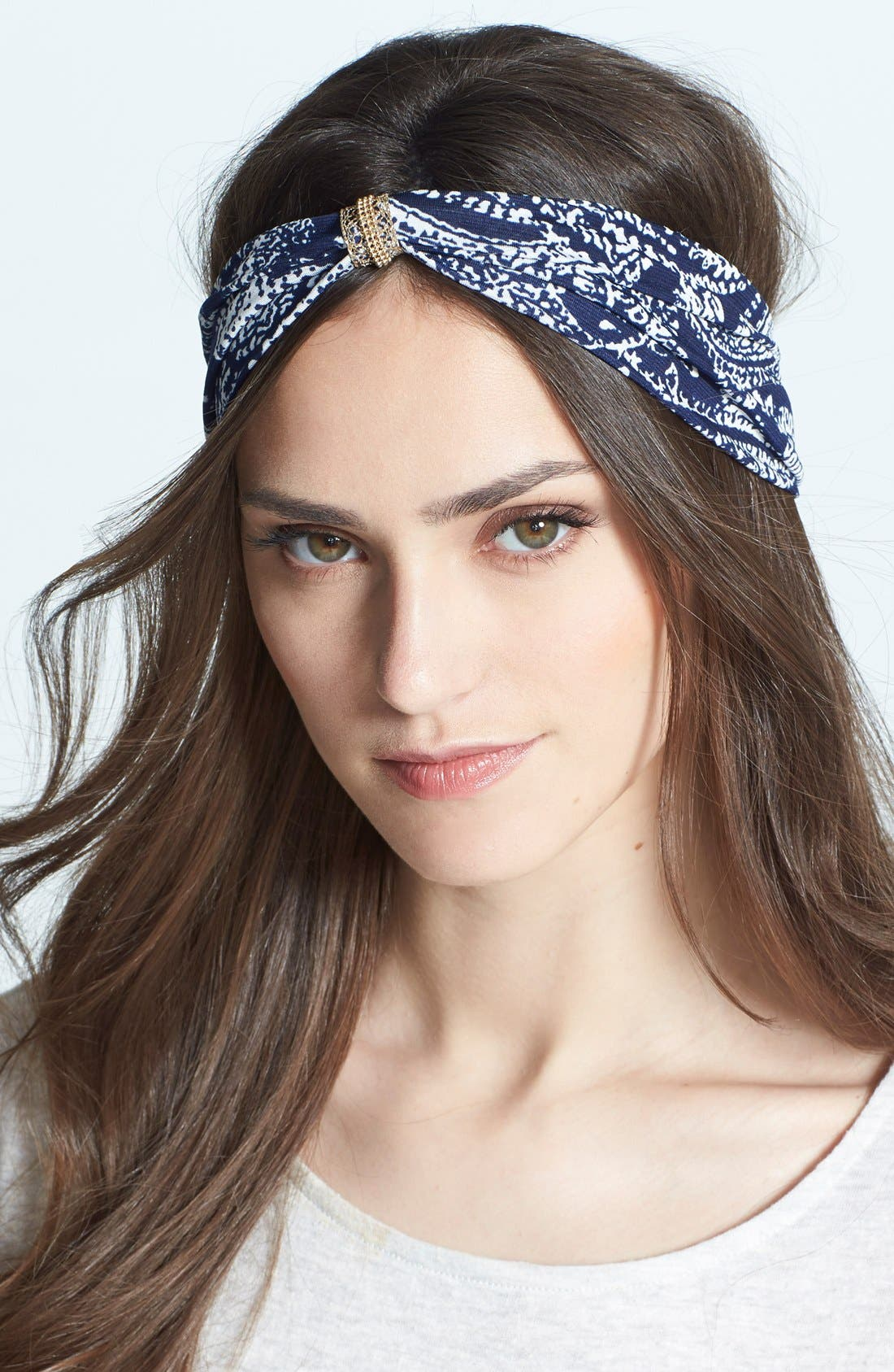 Alternate Image 1 Selected - Cara 'Paisley & Jewels' Head Wrap
