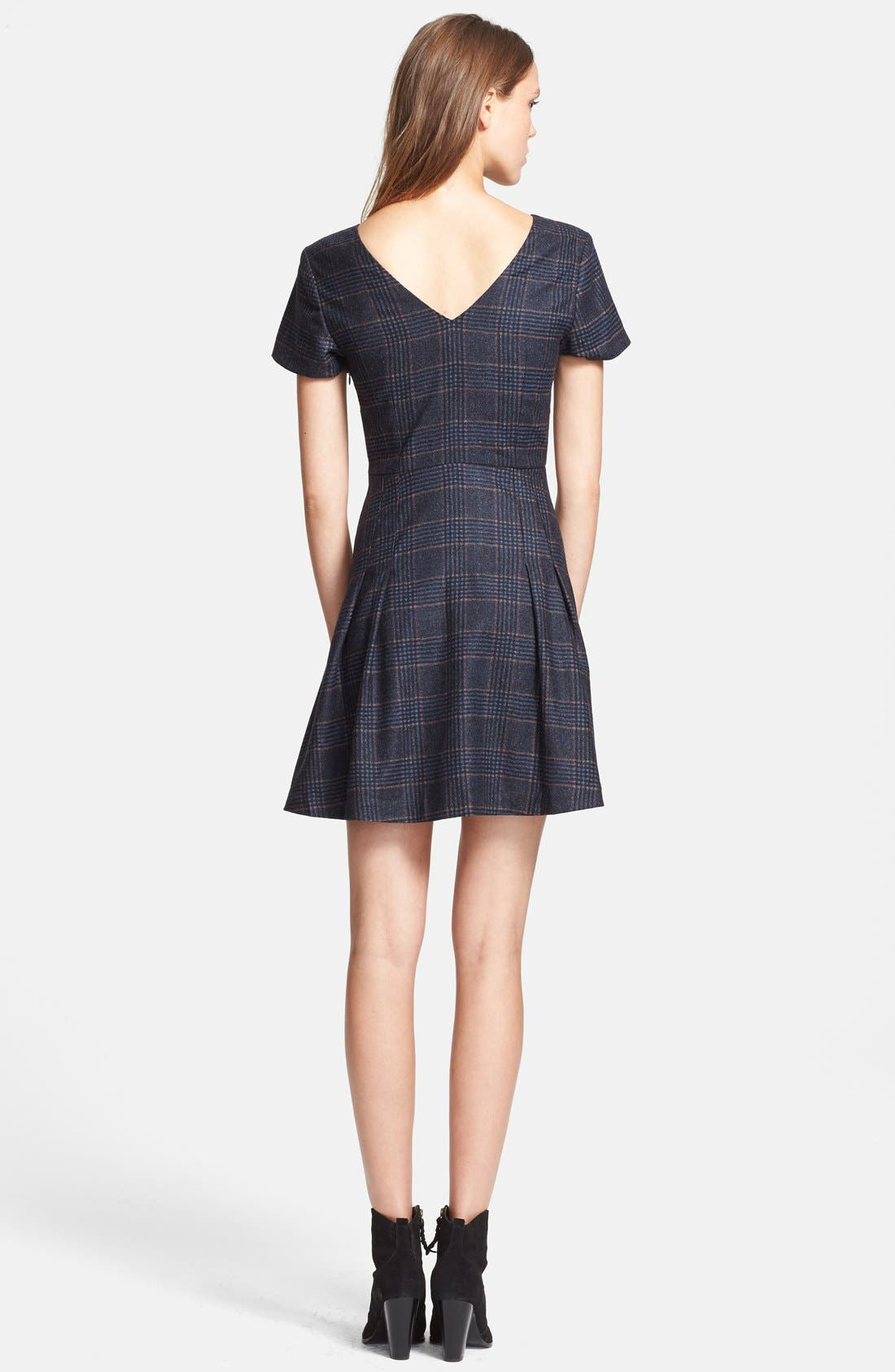 Alternate Image 2  - Joie 'Raley' Plaid Fit & Flare Dress