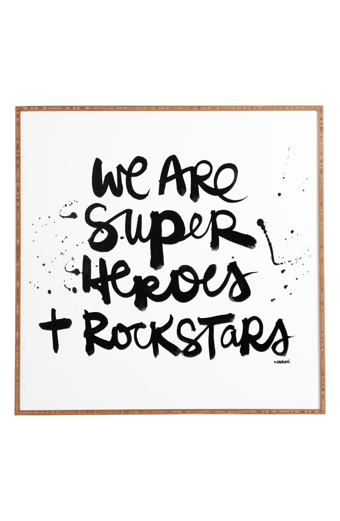 Alternate Image 1 Selected - DENY Designs 'Kal Barteski - We Are Superheroes & Rock Stars ' Wall Art
