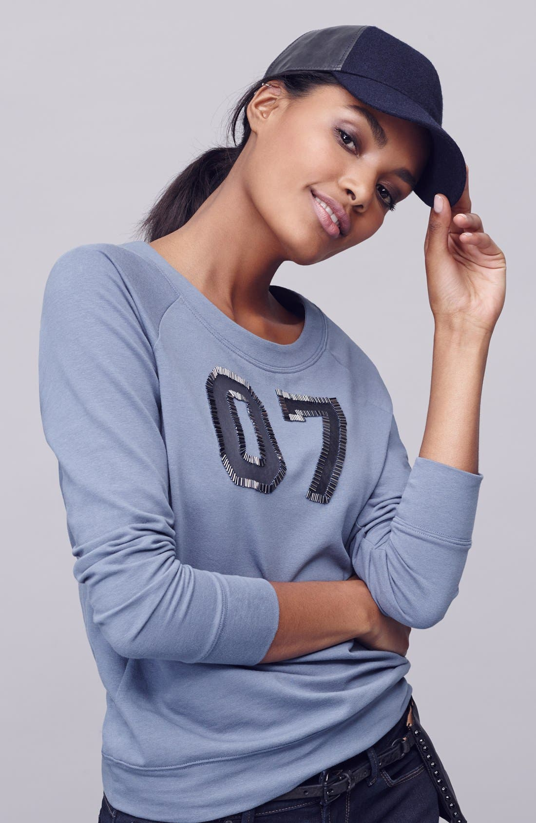 Alternate Image 5  - Halogen® Embellished Sweatshirt