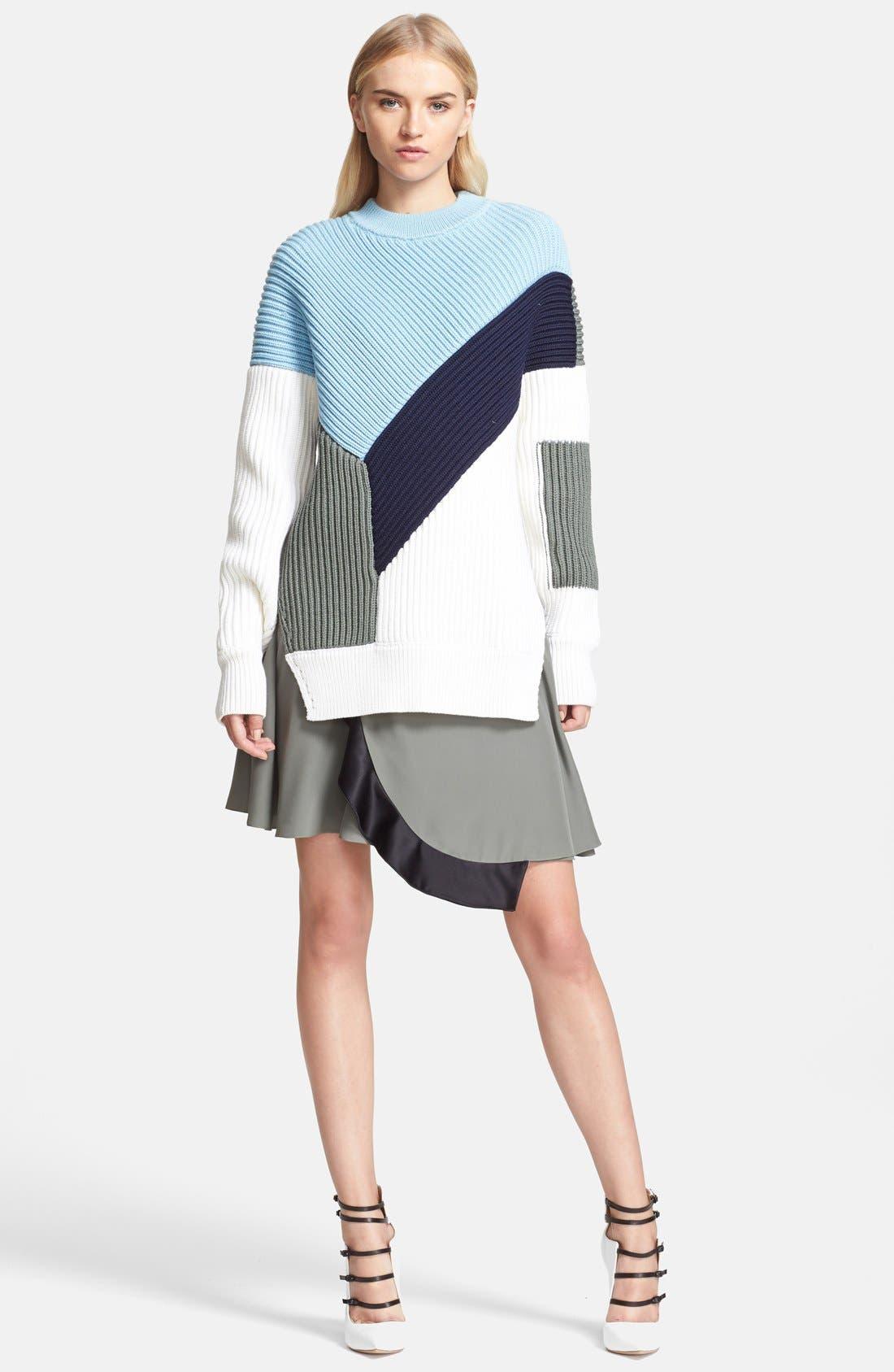 Alternate Image 1 Selected - Prabal Gurung Colorblock Chunky Knit Sweater