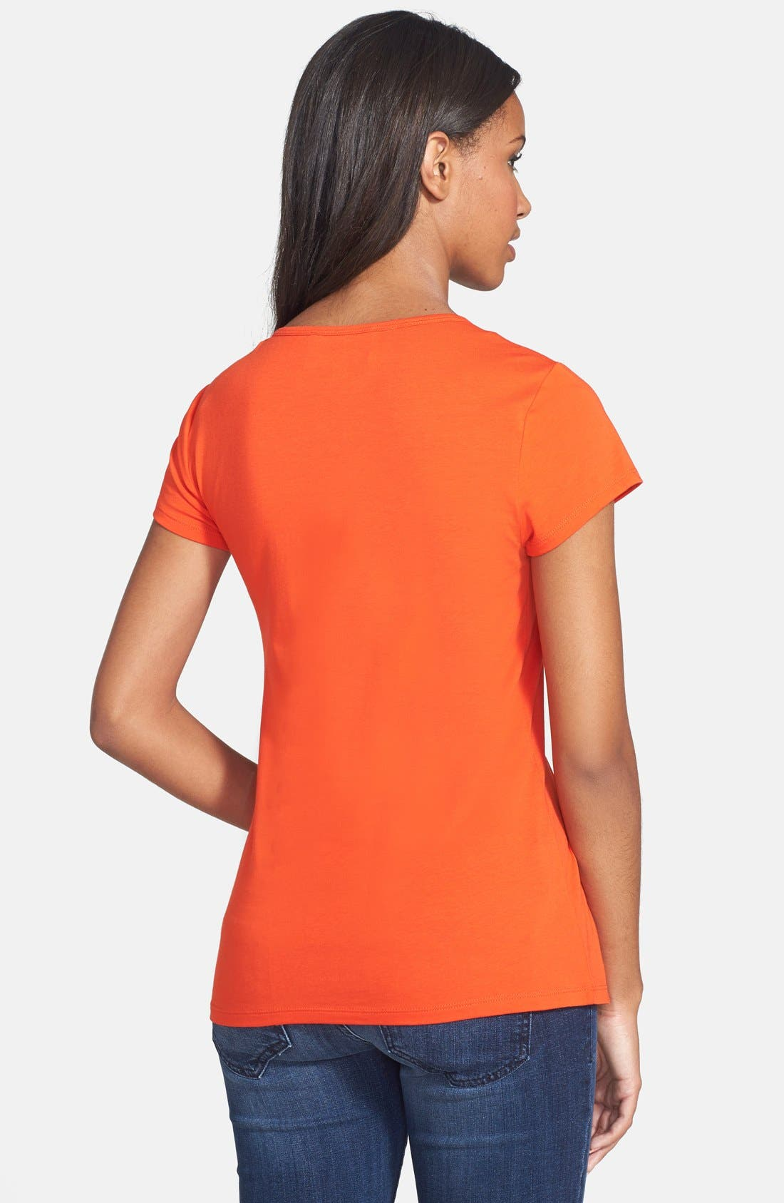 Alternate Image 2  - Two by Vince Camuto Ruched Front V-Neck Tee