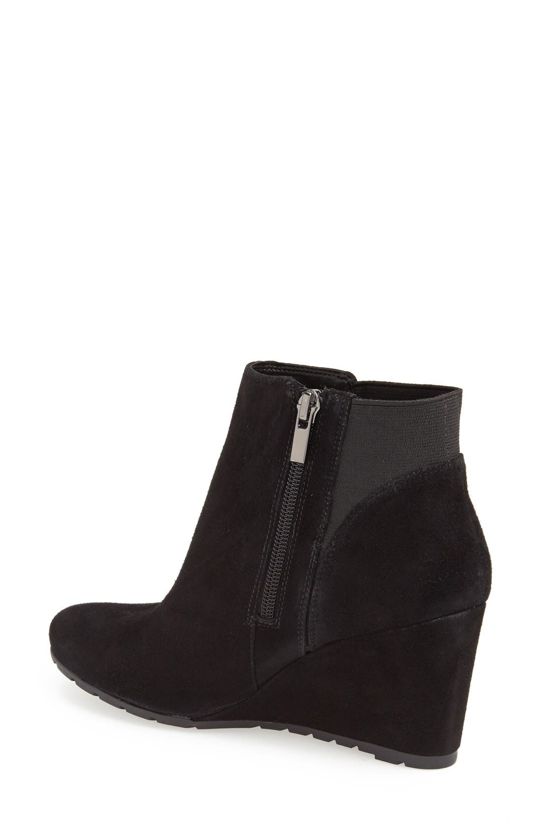 Alternate Image 2  - Clarks® 'Rosepoint Bell' Suede Wedge Boot (Women)