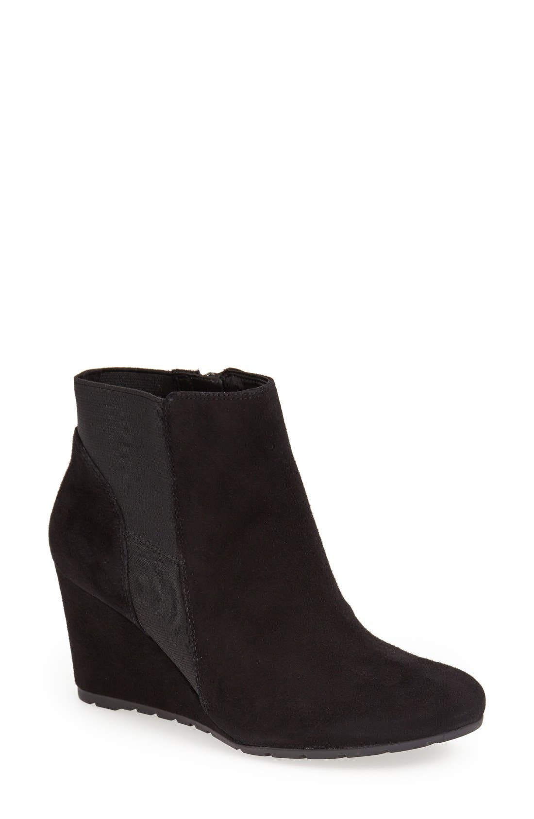 Alternate Image 1 Selected - Clarks® 'Rosepoint Bell' Suede Wedge Boot (Women)