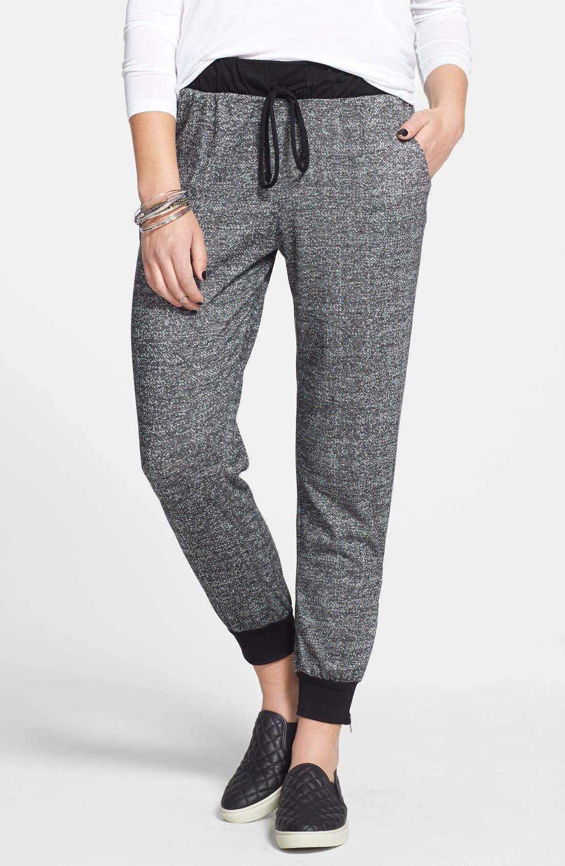 Main Image - h.i.p. Knit Jogger Pants (Juniors)