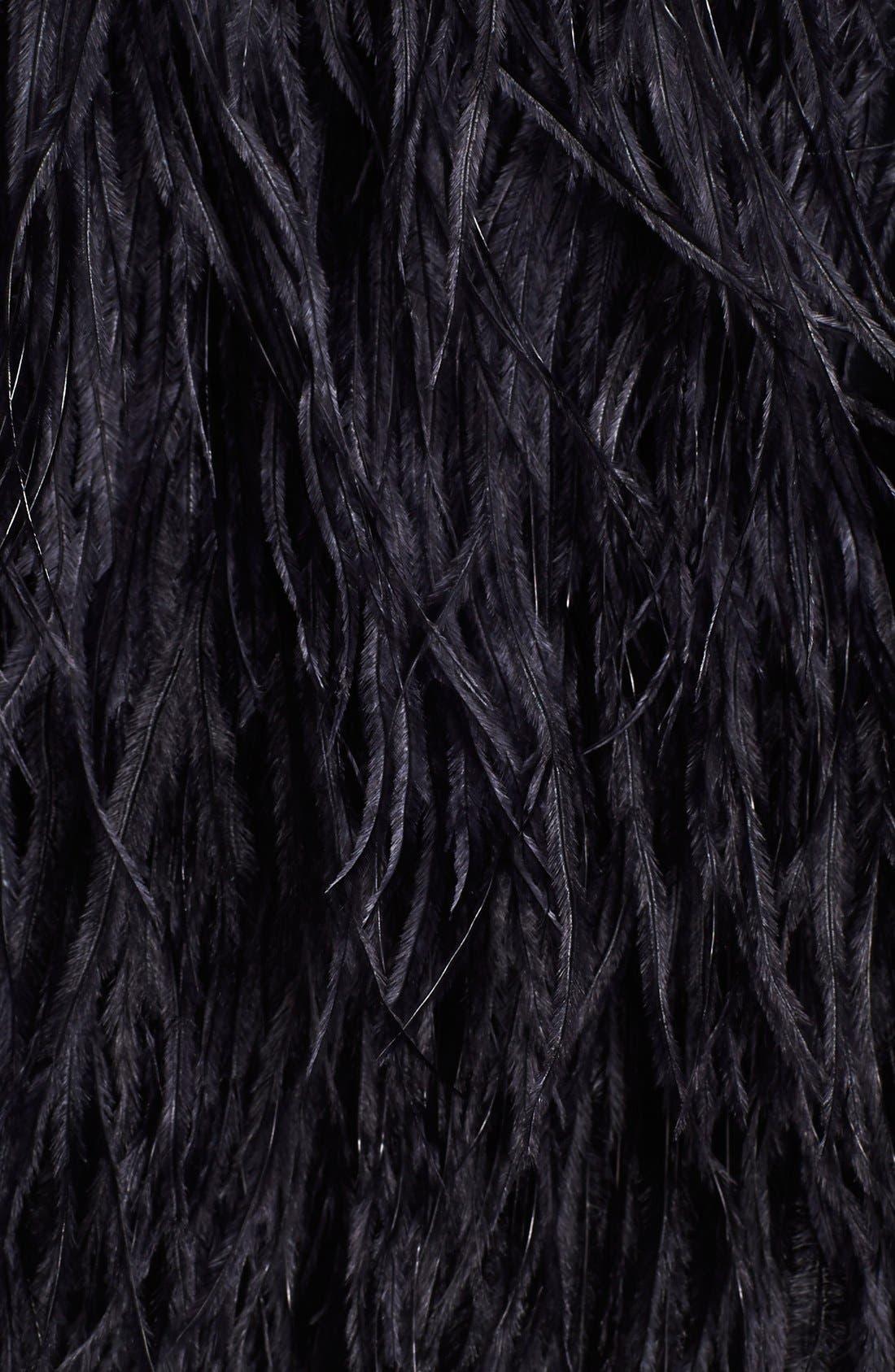 Alternate Image 3  - Tibi 'Cera Tuxedo' Ostrich Feather Dress