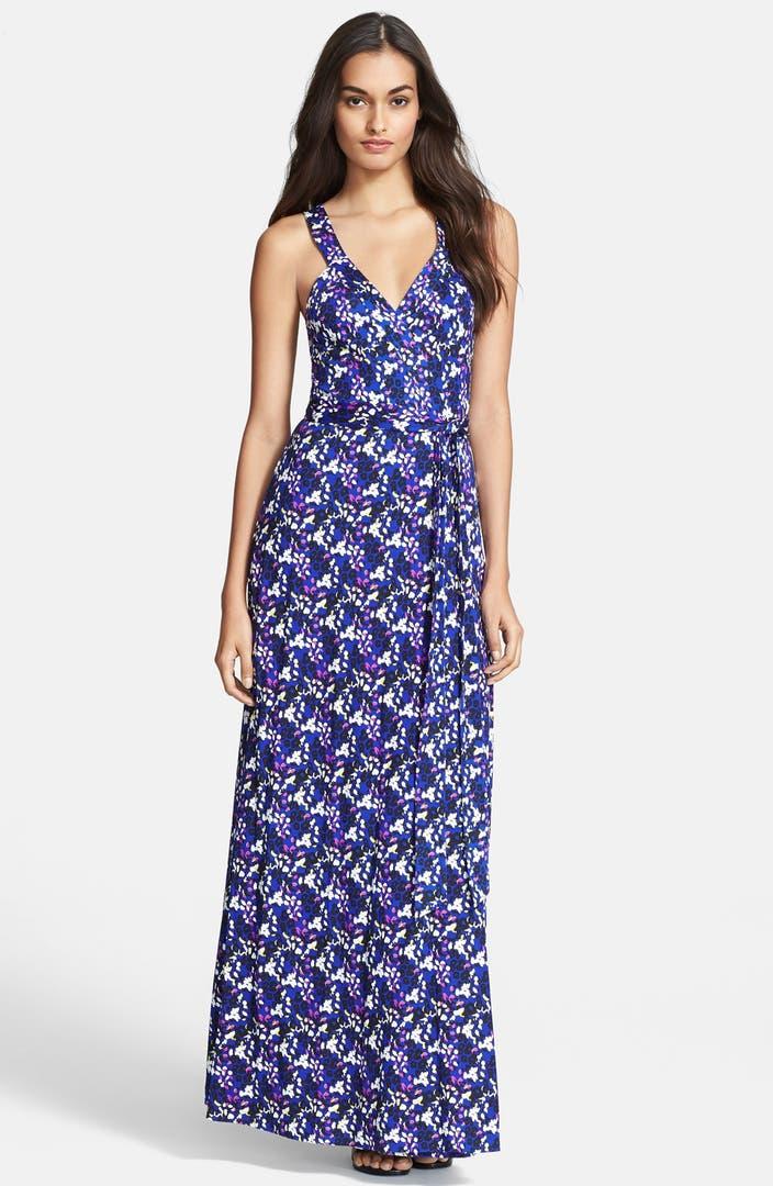 Diane Von Furstenberg Samson Print Silk Wrap Maxi Dress