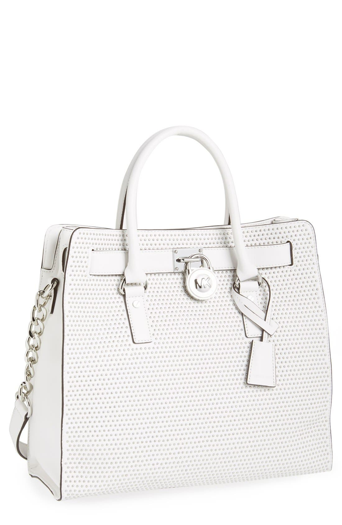Alternate Image 1 Selected - MICHAEL Michael Kors 'Large Hamilton - Microstud' Leather Tote