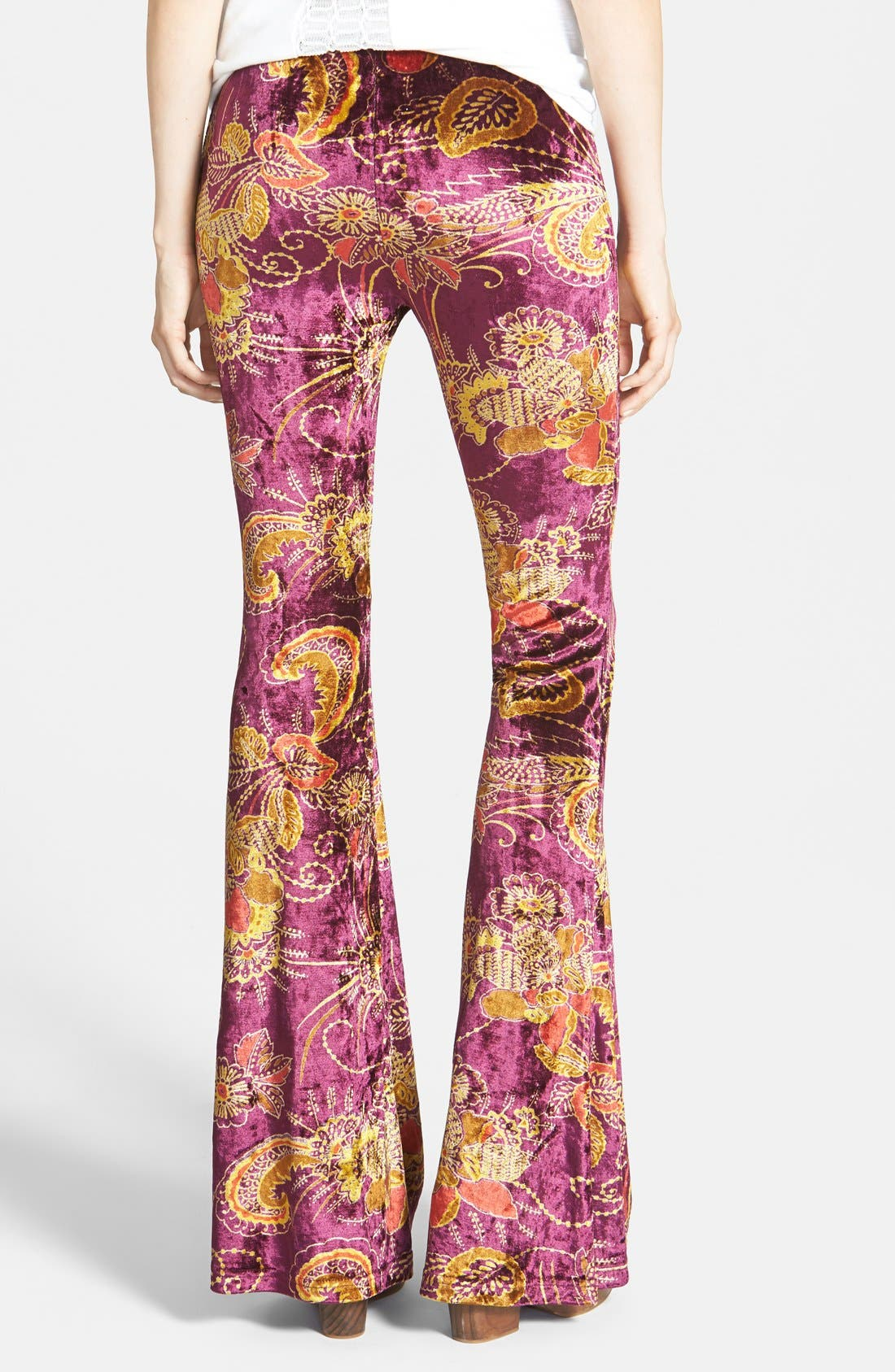Alternate Image 2  - Raga Paisley Bell Bottom Pants