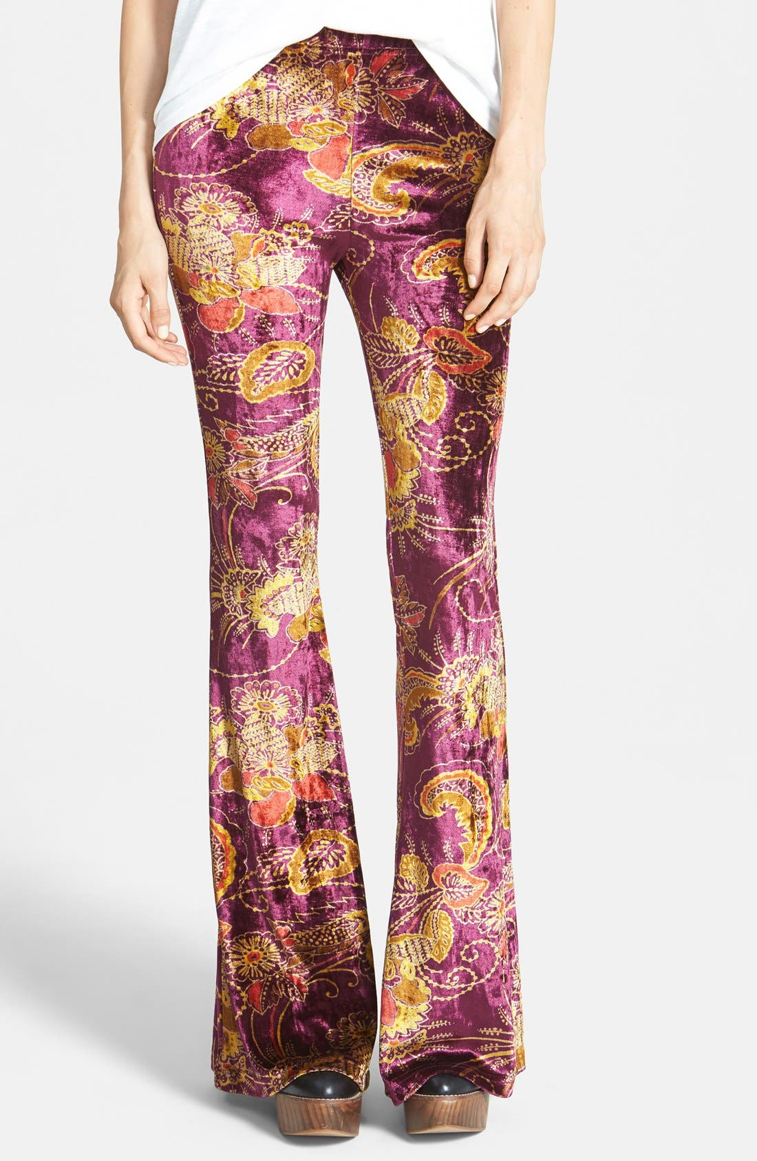 Alternate Image 1 Selected - Raga Paisley Bell Bottom Pants
