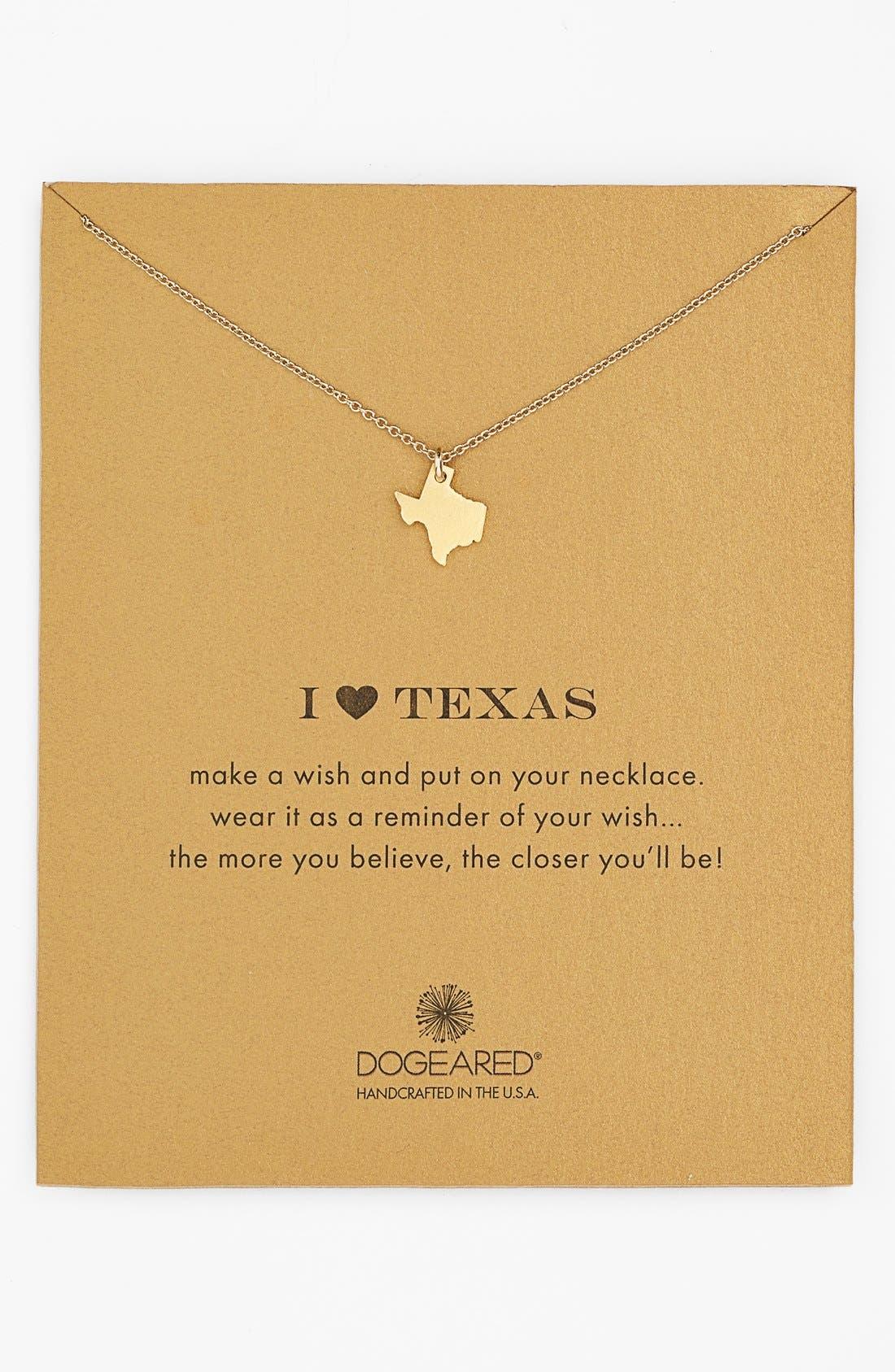 Alternate Image 1 Selected - Dogeared 'Reminder - I Heart Texas' Pendant Necklace