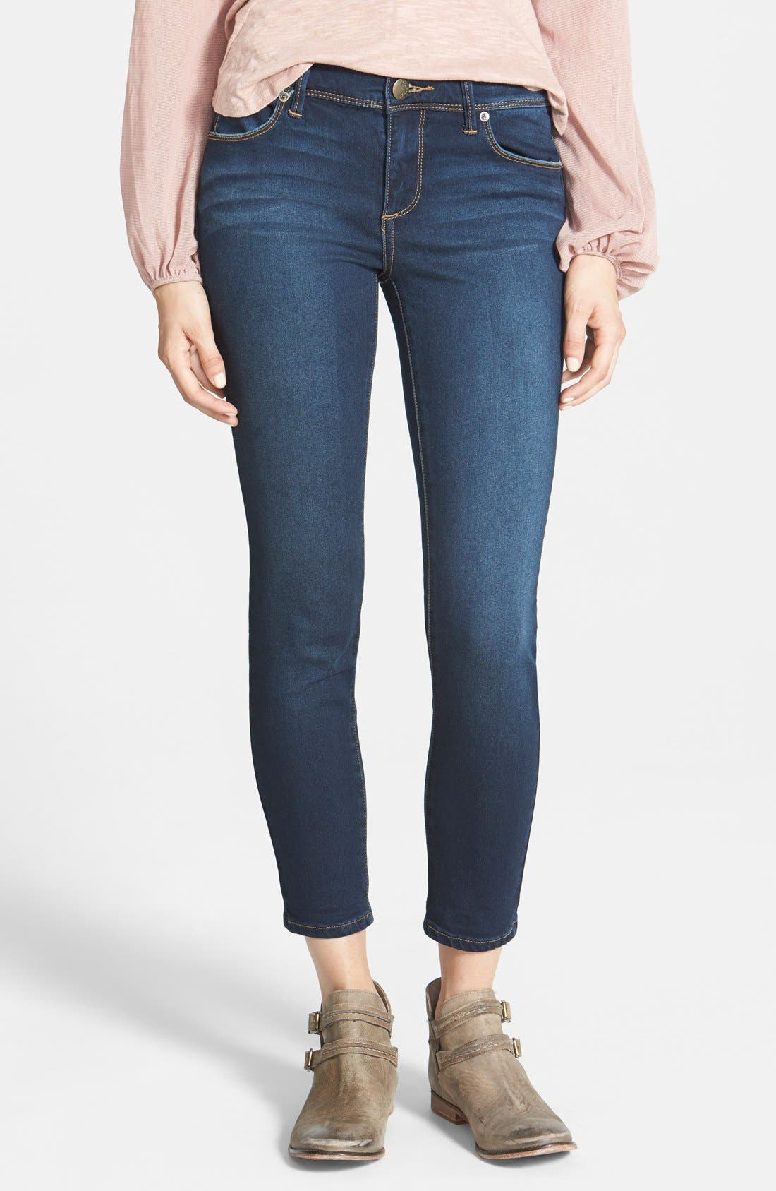 Alternate Image 1 Selected - Free People 'Roller' Crop Skinny Jeans (Ella)