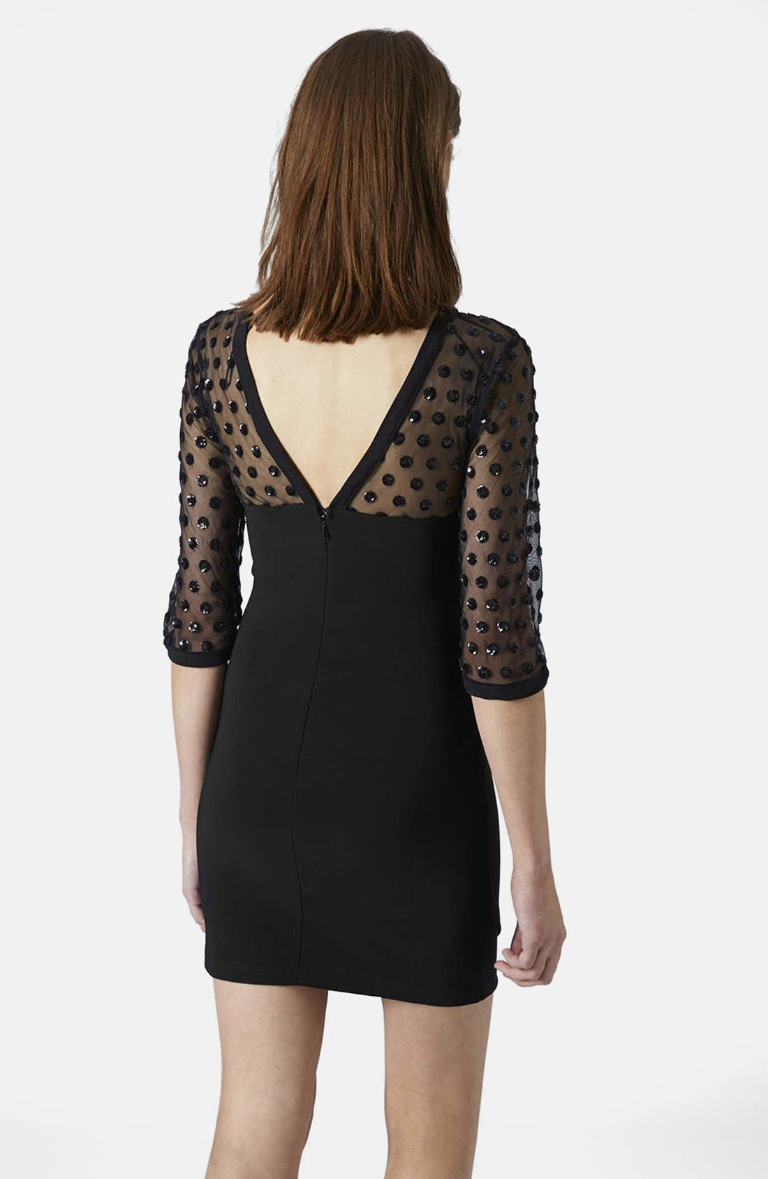 Alternate Image 2  - Topshop Mesh Body-Con Dress