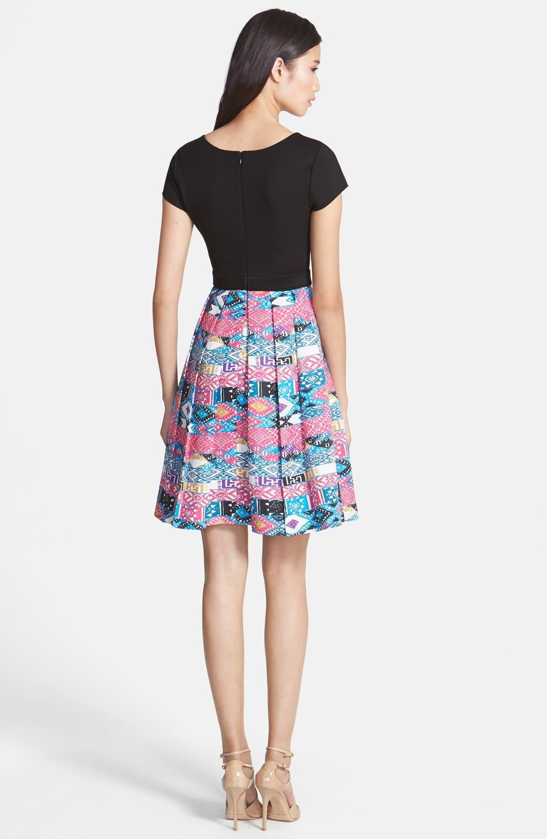 Alternate Image 2  - Plenty by Tracy Reese 'Zoe' Print Skirt Fit & Flare Dress (Petite)