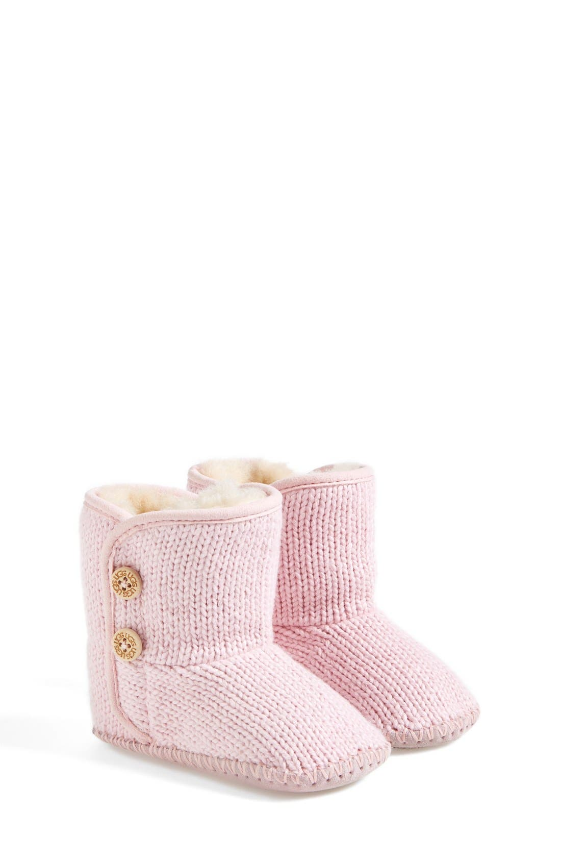 Alternate Image 1 Selected - UGG® Purl Knit Bootie (Baby & Walker)