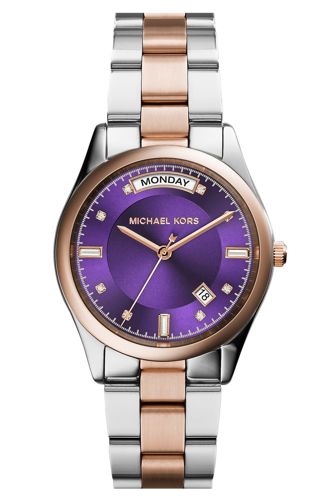 Alternate Image 1 Selected - Michael Kors 'Colette' Round Bracelet Watch, 34mm