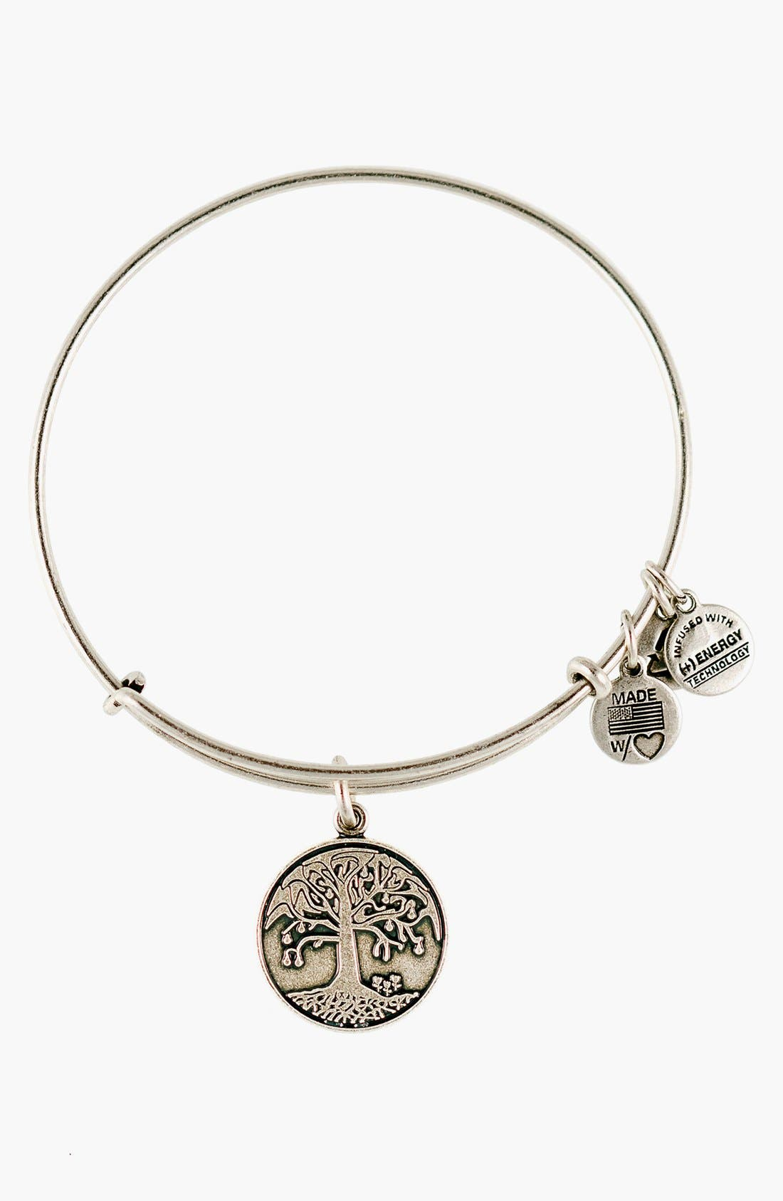 Main Image - Alex and Ani 'Tree of Life' Expandable Wire Bangle