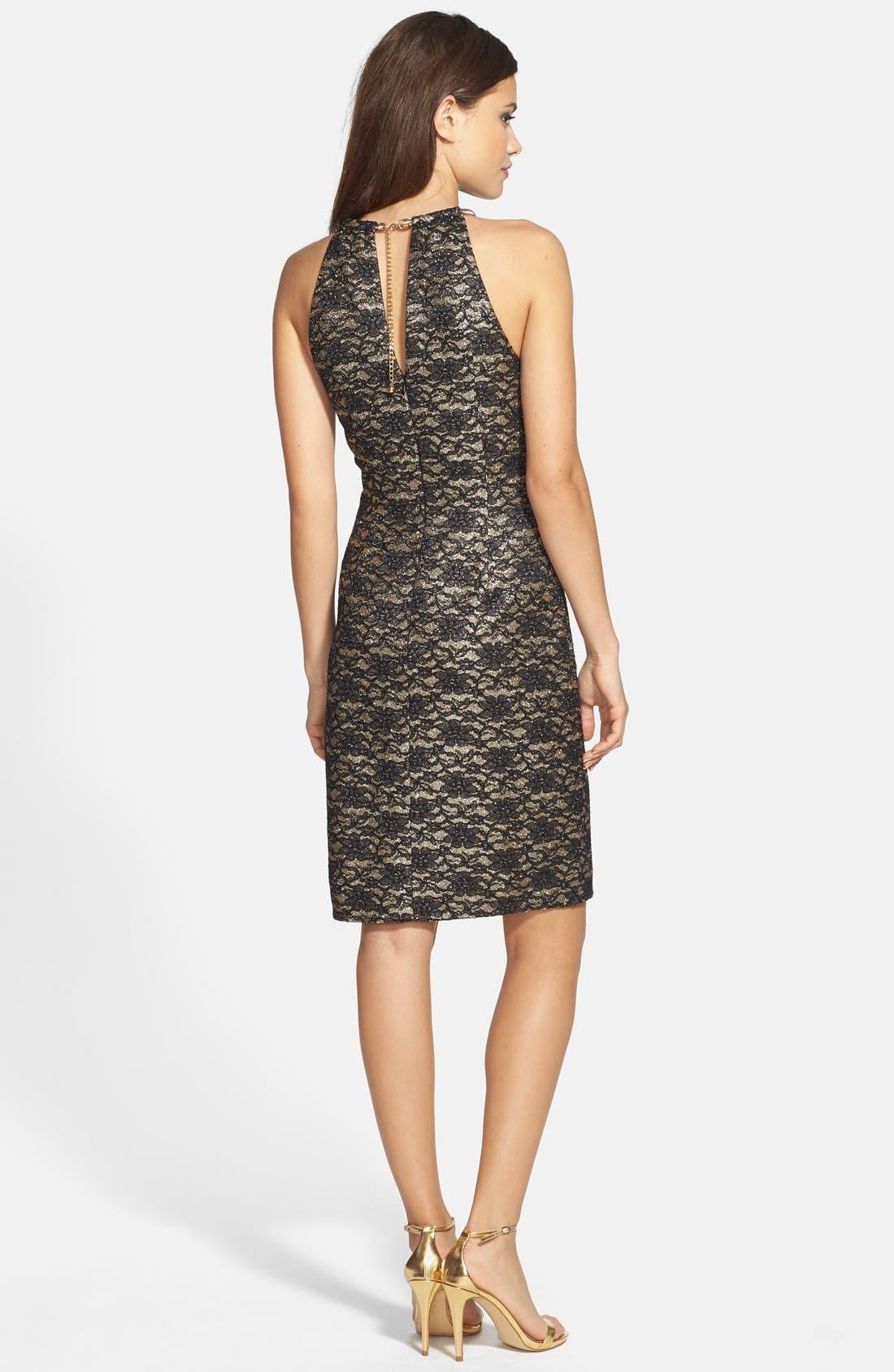 Alternate Image 2  - Eliza J Lace Halter Sheath Dress