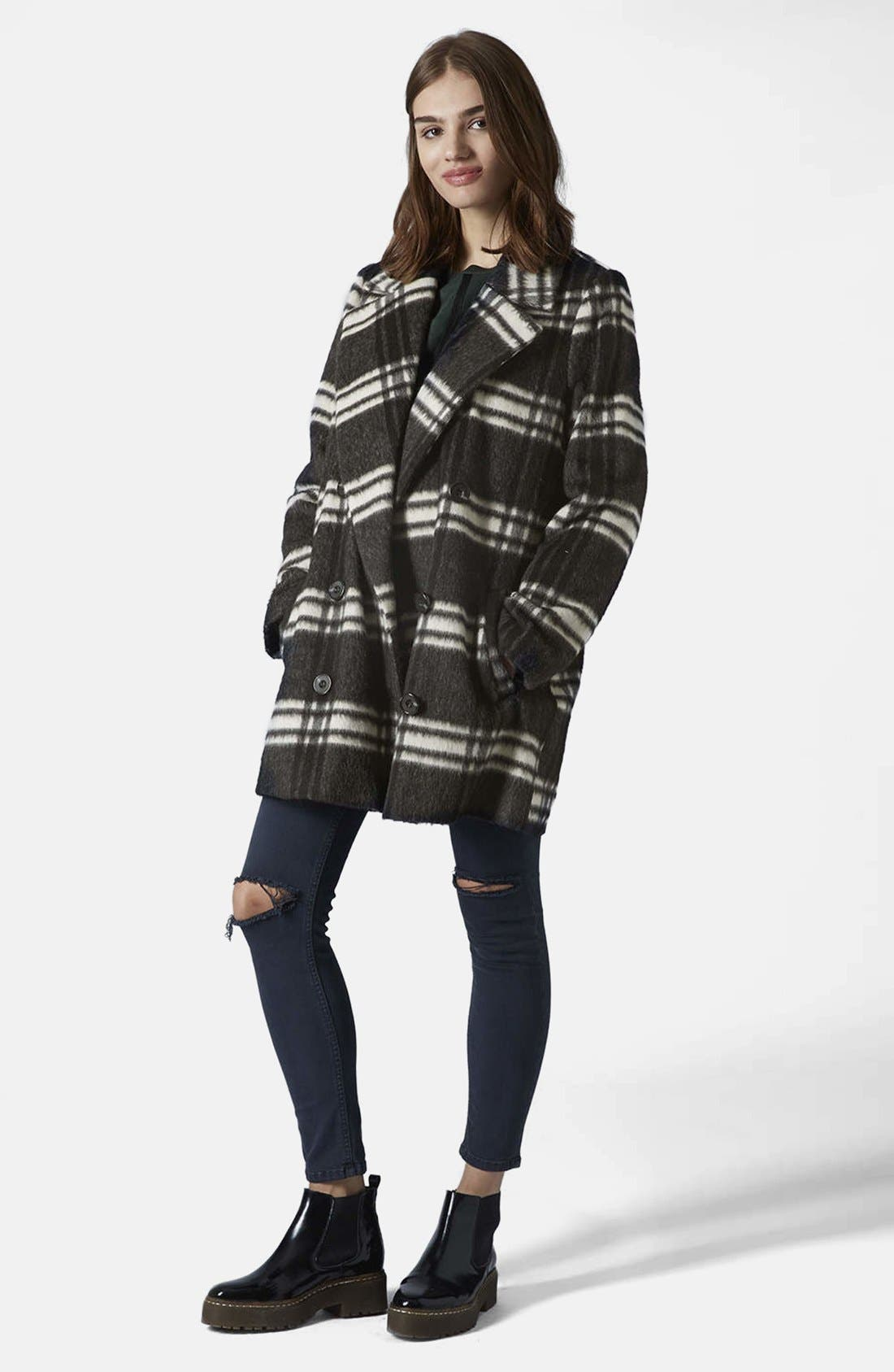 Alternate Image 5  - Topshop Double Breasted Pea Coat