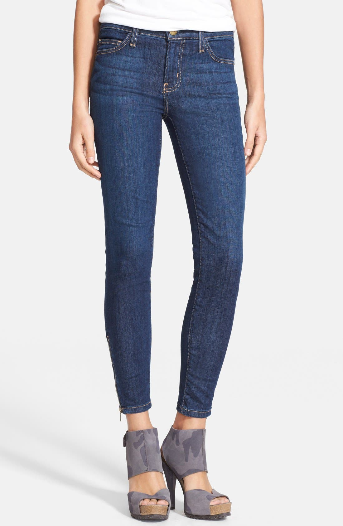 Main Image - Current/Elliott 'The Zip Stiletto' Skinny Jeans (Bowler)