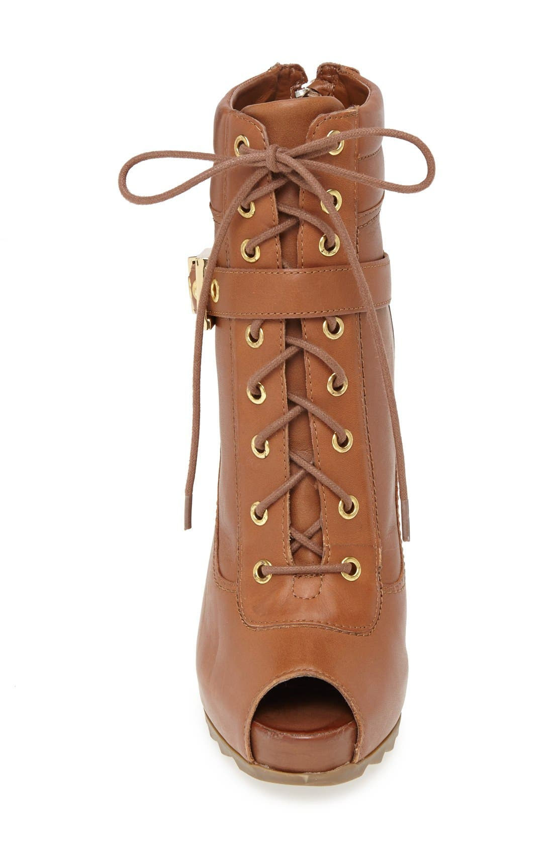Alternate Image 3  - GUESS 'Bieinda' Peep Toe Lace-Up Bootie (Women)