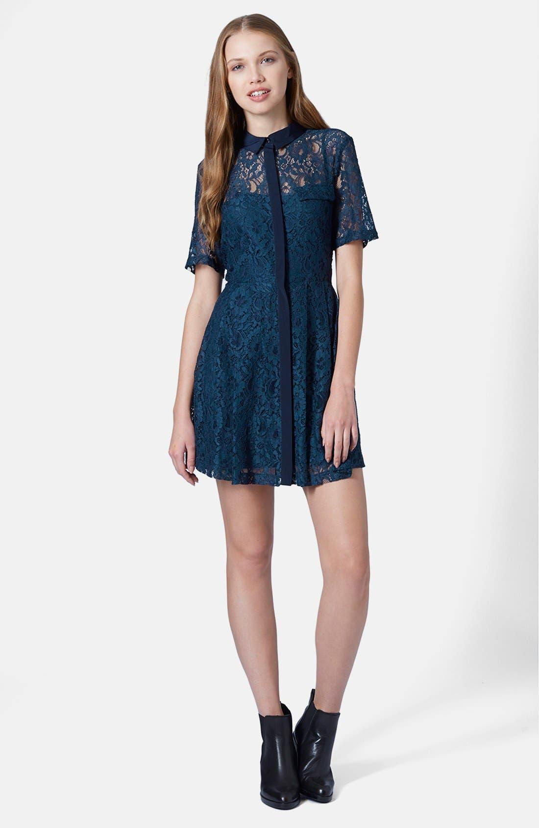 Alternate Image 5  - Topshop Lace Shirt Dress