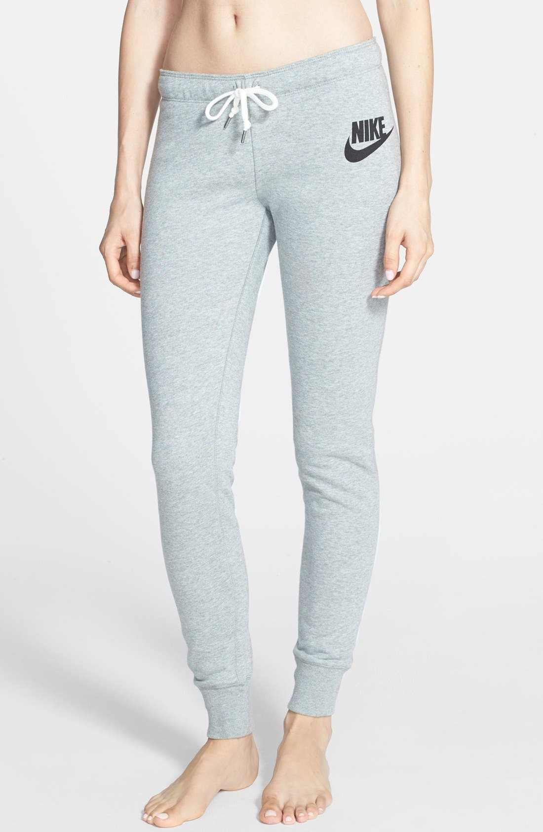 Alternate Image 1 Selected - Nike 'Rally' Tight French Terry Sweatpants