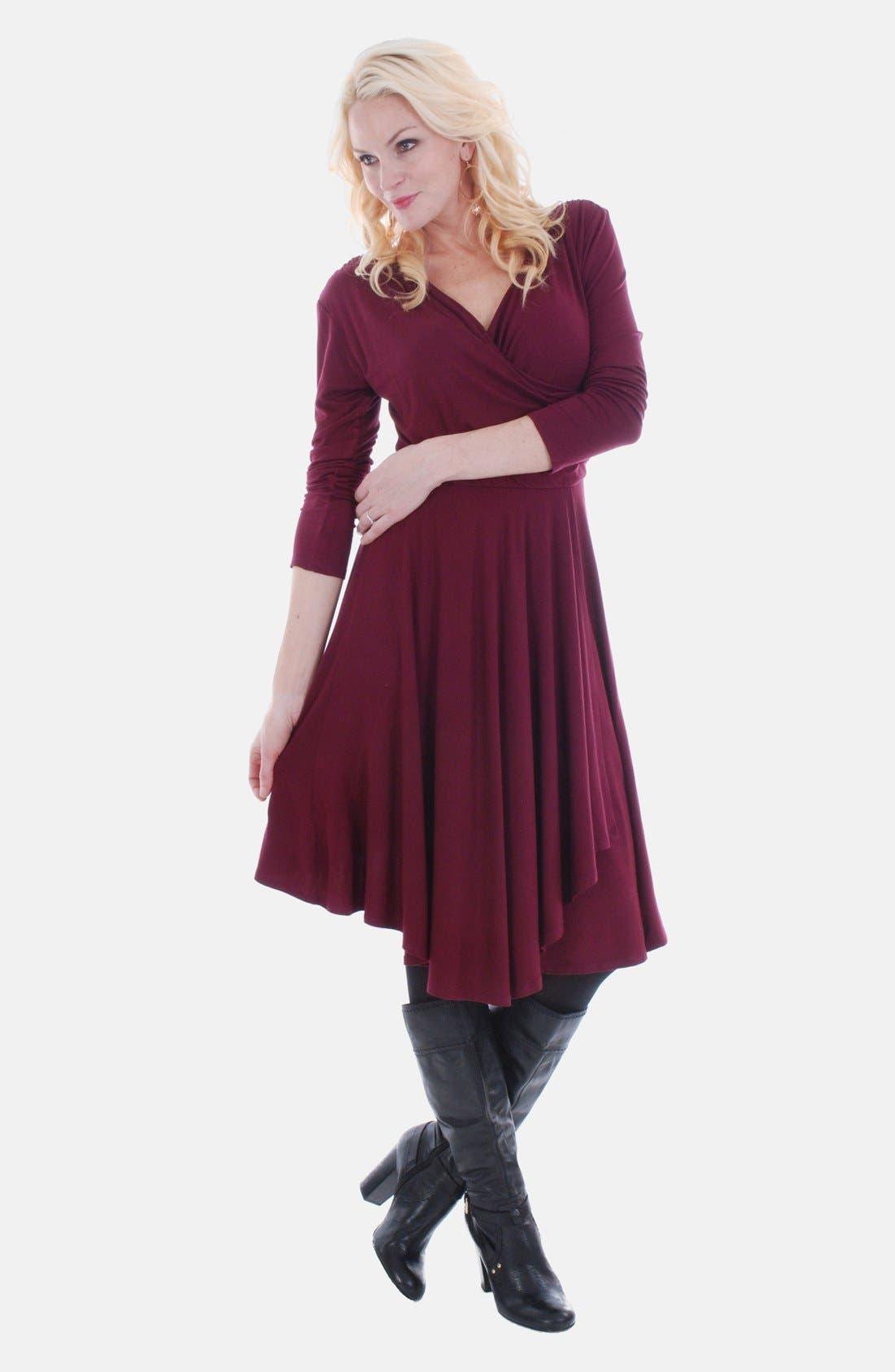 Main Image - Everly Grey 'Kaylee' Faux Wrap Maternity Dress