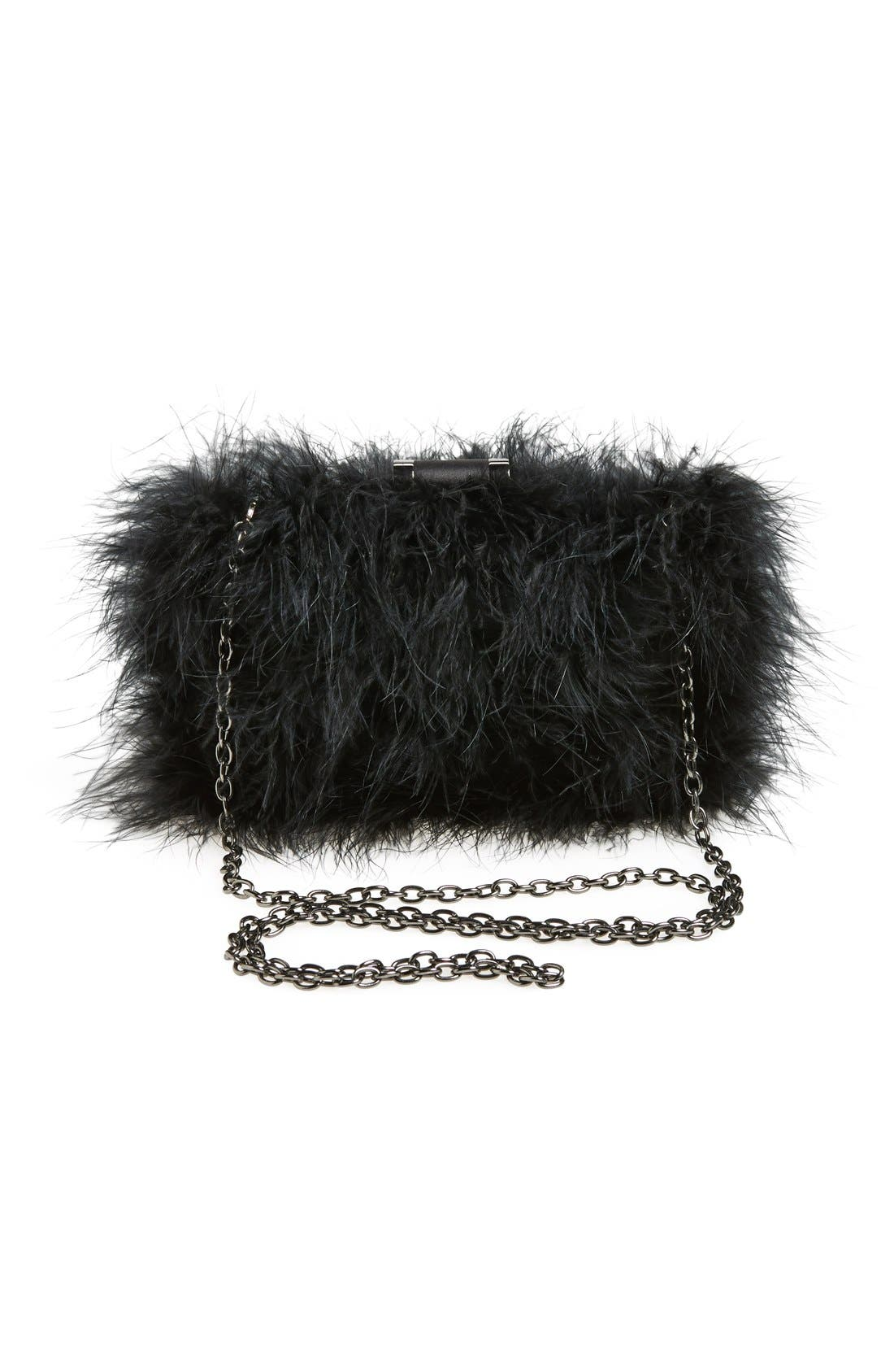 Alternate Image 4  - Sondra Roberts 'Furry Monster' Feather Clutch