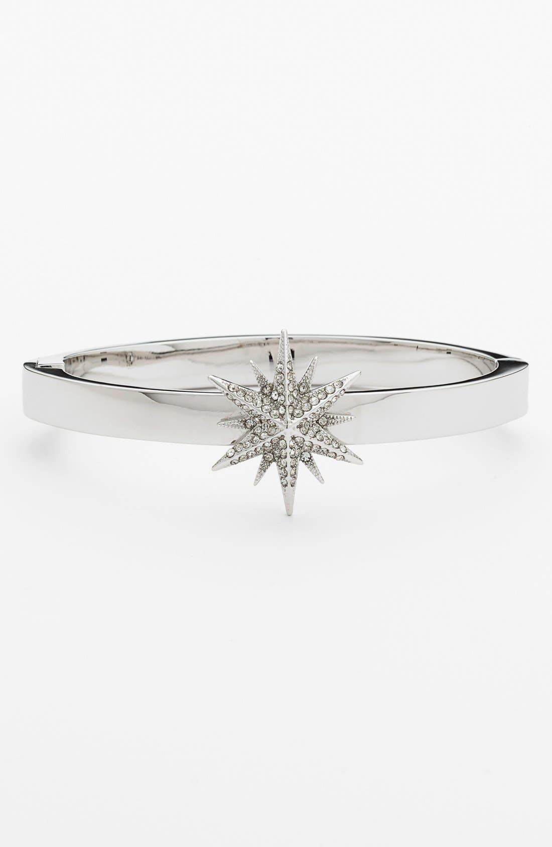 Main Image - Louise et Cie 'Micro Pavé' Star Hinged Bangle