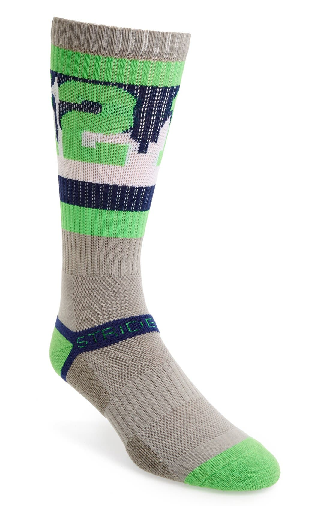 Alternate Image 1 Selected - STRIDELINE 'Seattle 12th Man' Socks