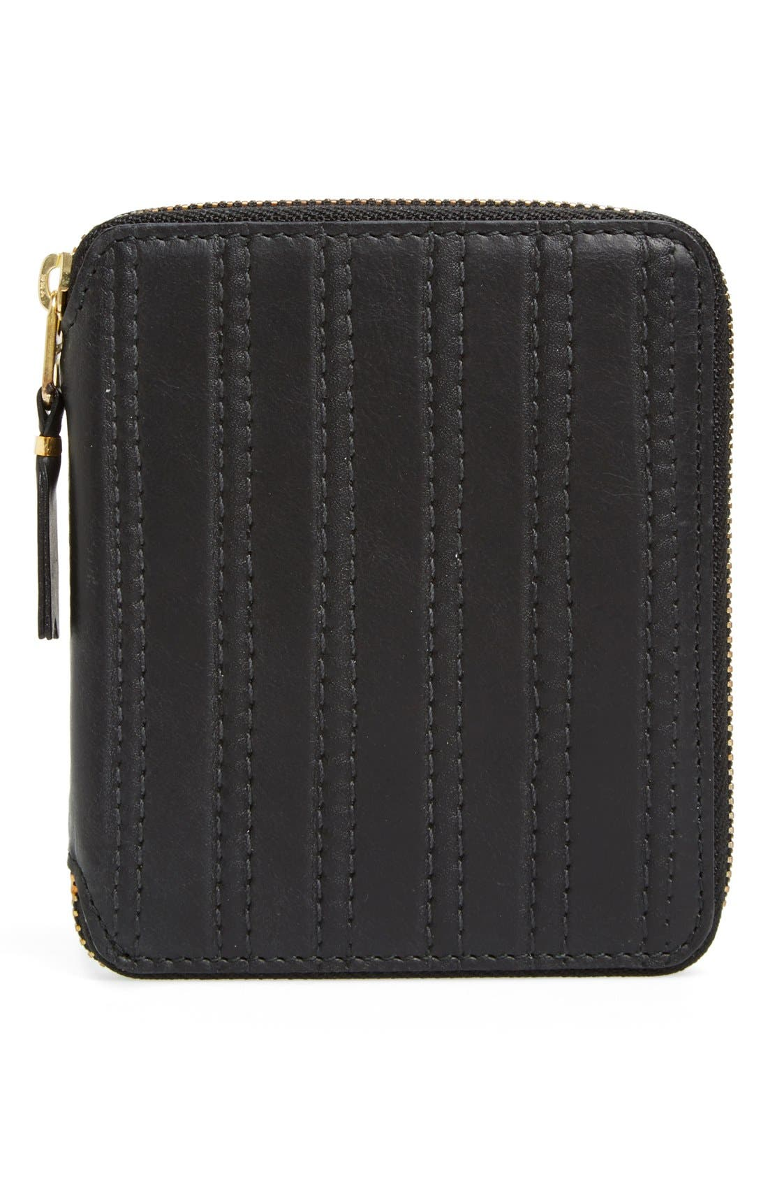 COMME DES GARÇONS 'Embossed Stitch' French Wallet