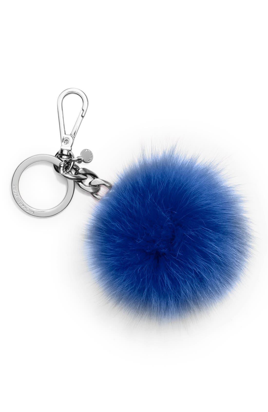 Alternate Image 1 Selected - MICHAEL Michael Kors 'Selma' Genuine Fox Fur Key Fob