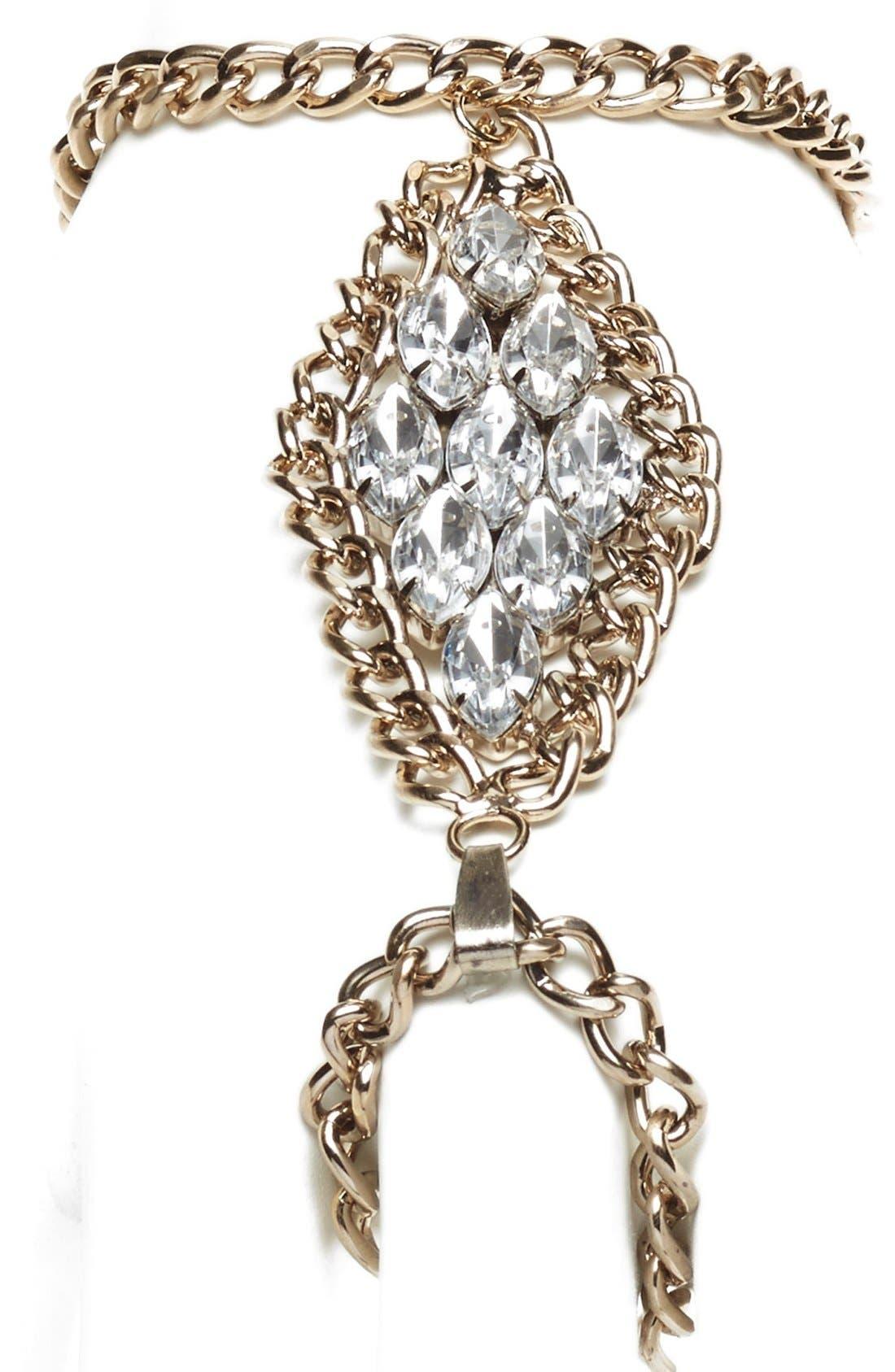 Alternate Image 2  - Tildon Crystal Hand Chain
