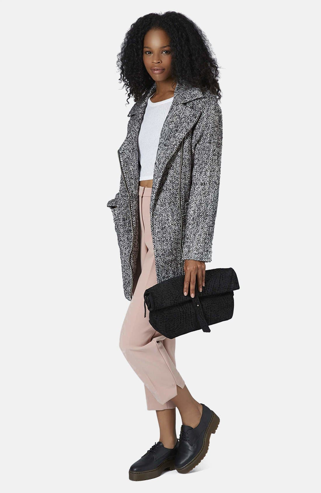 Alternate Image 5  - Topshop Textured Wool Jacket