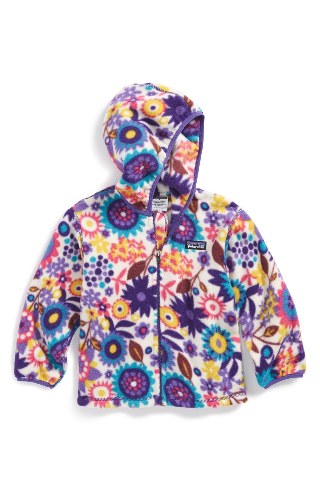 Main Image - Patagonia Hooded Synchilla® Fleece Jacket (Baby)