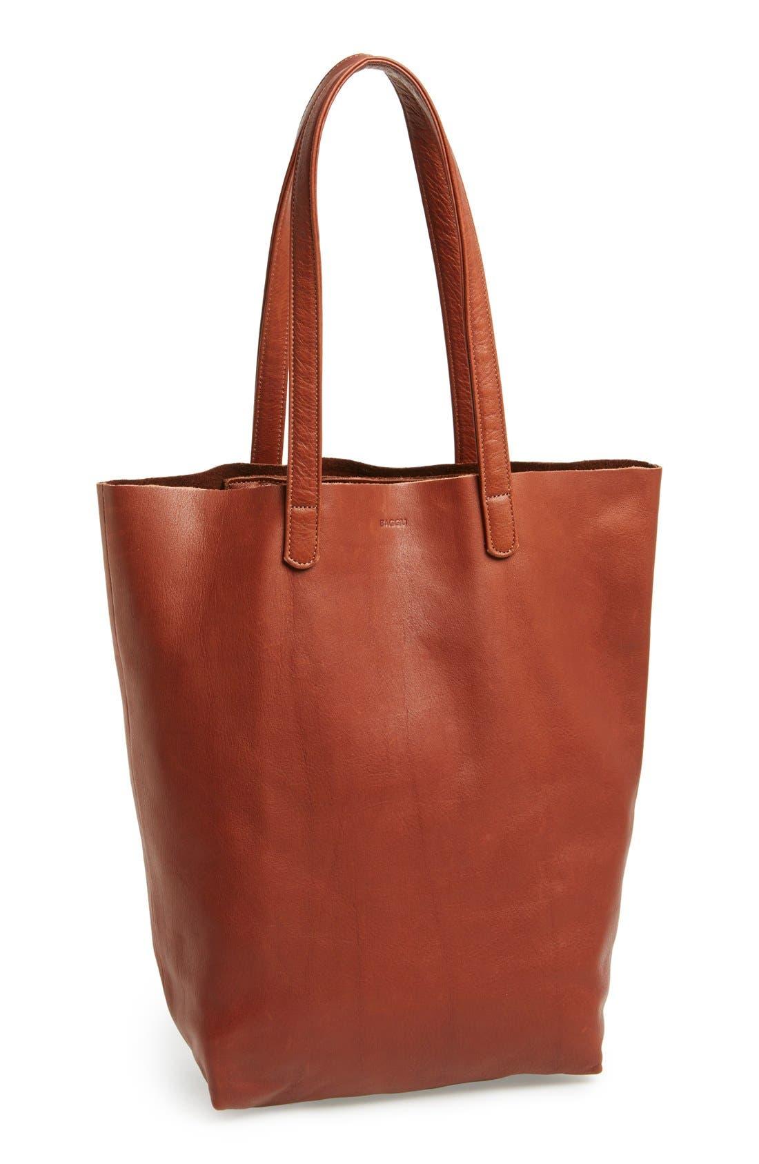 Alternate Image 1 Selected - Baggu® 'Basic' Leather Tote