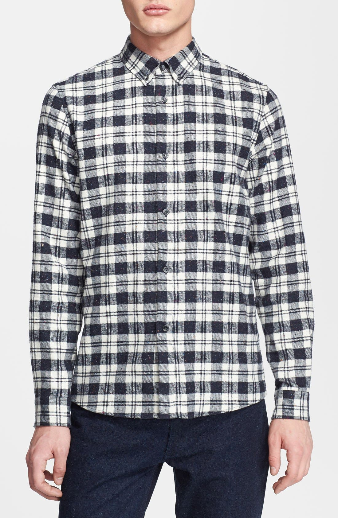 Alternate Image 1 Selected - A.P.C. Plaid Flannel Shirt