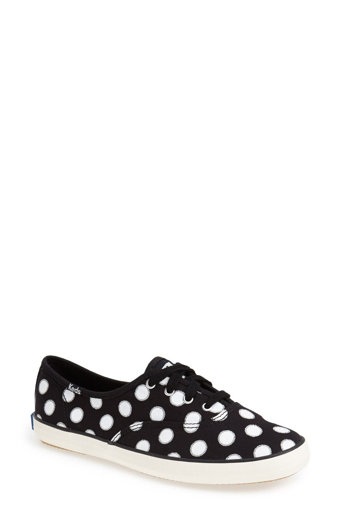 Alternate Image 1 Selected - Keds® 'Champion - Glitter Dot' Canvas Sneaker (Women) (Regular Retail Price: $49.95)