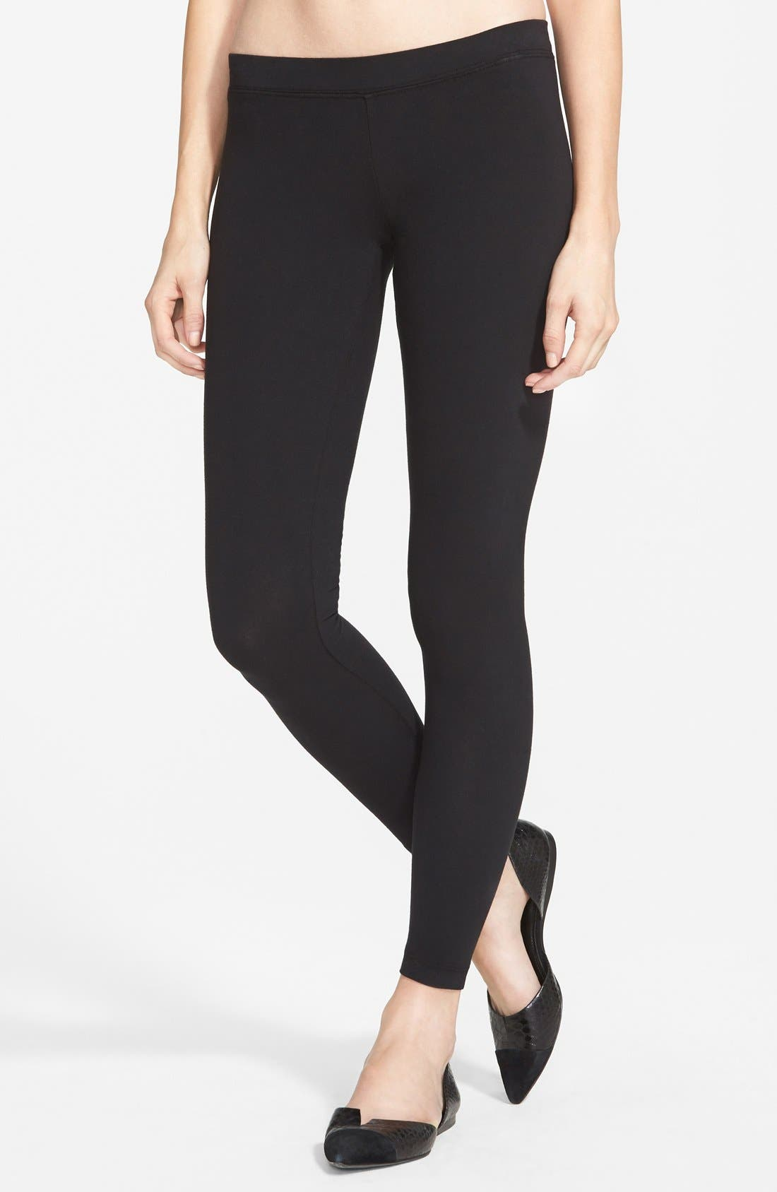 Alternate Image 1 Selected - James Perse Stretch Jersey Leggings