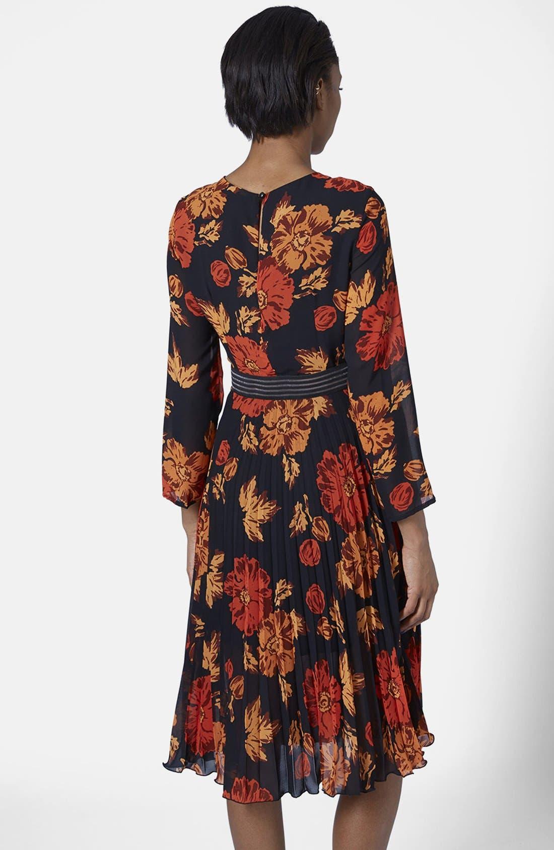 Alternate Image 2  - Topshop 'Bloomsbury' Floral Print Midi Dress