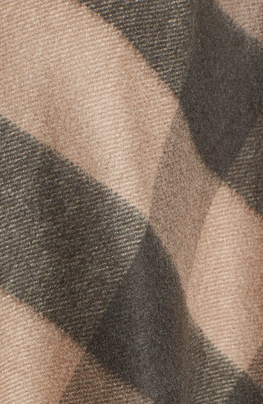 Alternate Image 3  - Burberry Check Print Wool & Cashmere Cape