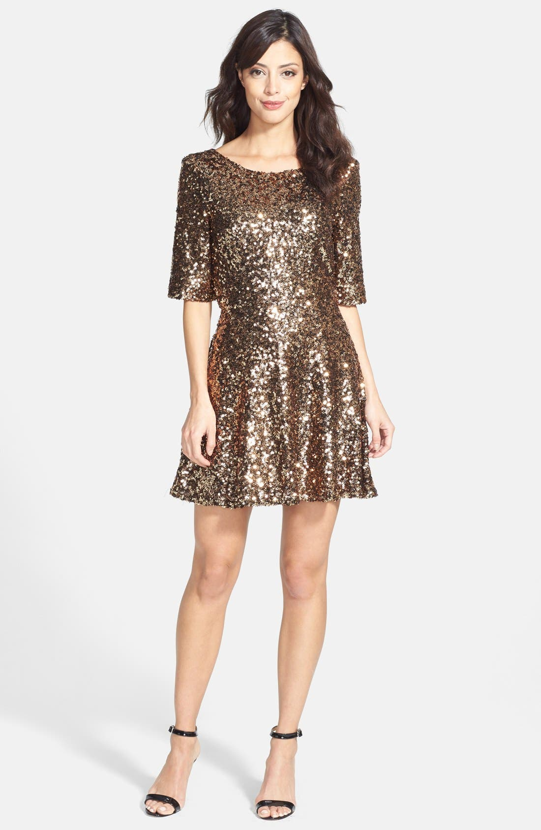Alternate Image 3  - French Connection 'Ozlem' Sequin Fit & Flare Dress