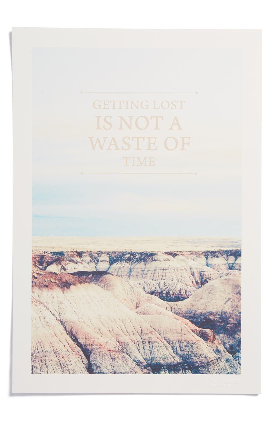 Main Image - Arts District Printing Co. 'Getting Lost Is Not a Waste of Time' Print