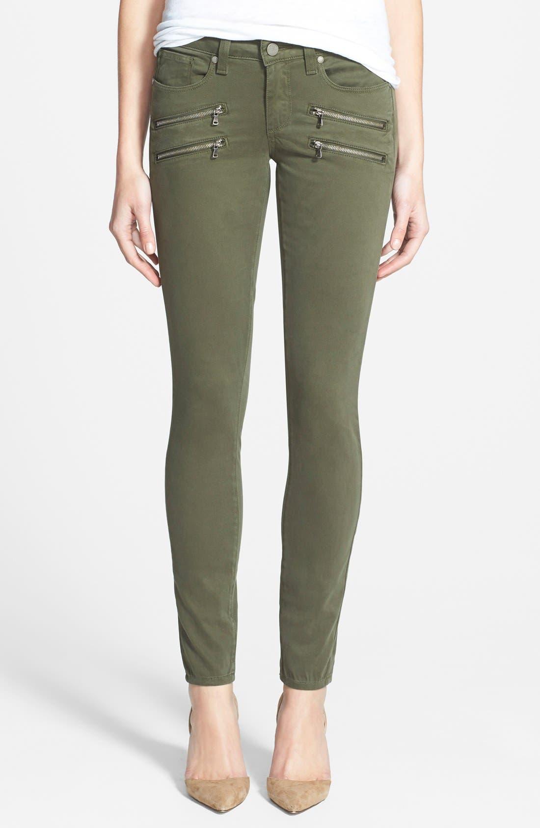 Alternate Image 1 Selected - Paige Denim 'Edgemont' Ultra Skinny Jeans (Pine Green)