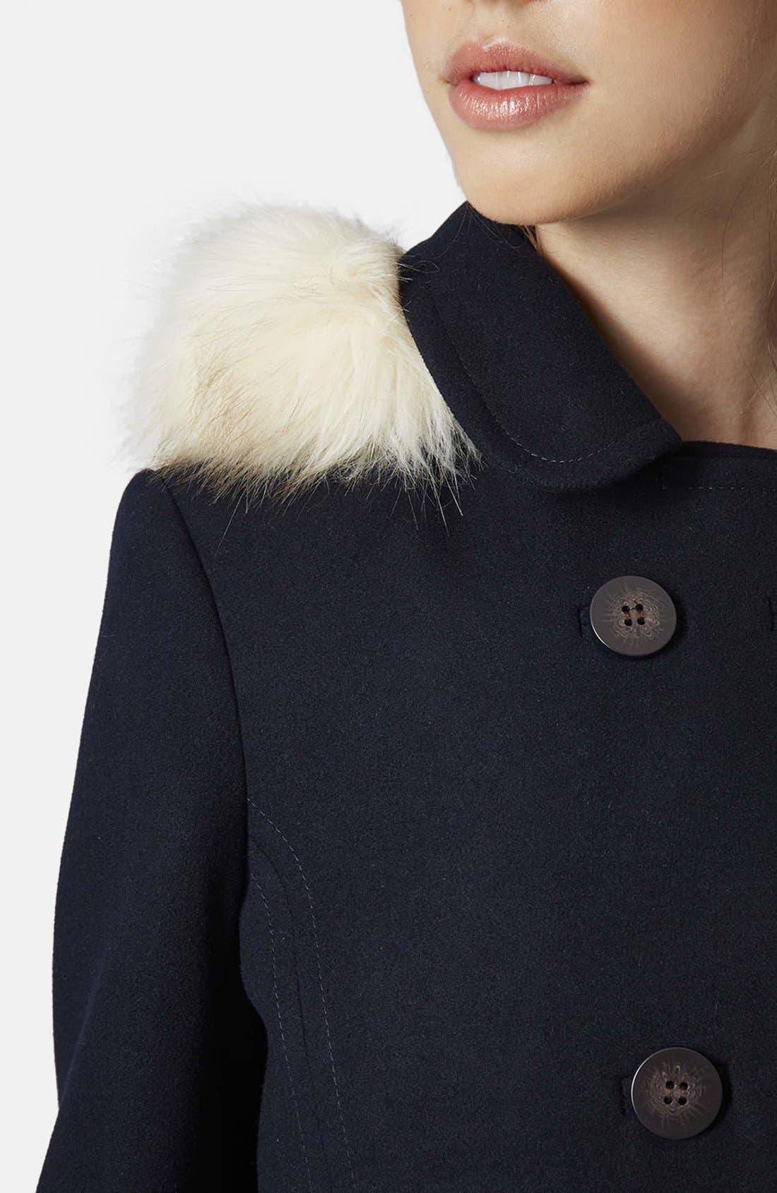 Alternate Image 5  - Topshop 'Lottie' Faux Fur Trim Hooded Coat